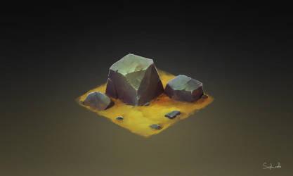 Isometric Stone by Sephiroth-Art