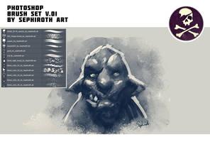 Brush Set v.01 by Sephiroth Art by Sephiroth-Art