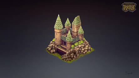 Isometric Hogwards Castle by Sephiroth-Art
