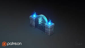 Isometric Lions Gate by Sephiroth-Art