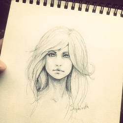 Girl Sketch by Sephiroth-Art