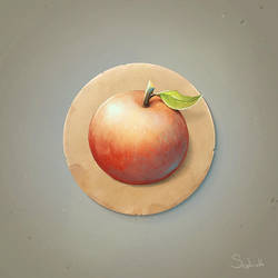 Red Apple Icon by Sephiroth-Art