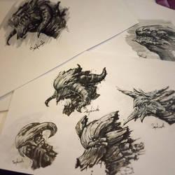 Dragon Head by Sephiroth-Art