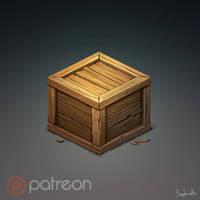 Isometric Wood Box by Sephiroth-Art