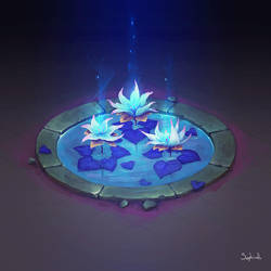 Isometric Water Lilly   video by Sephiroth-Art