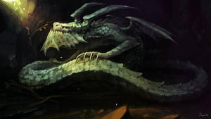 BESTIARY VII - Cave Dragon by Sephiroth-Art