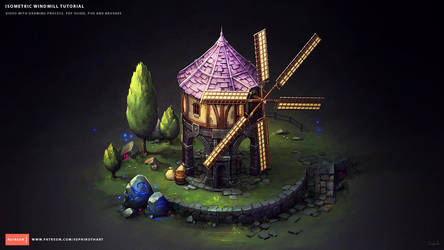 Isometric Windmill by Sephiroth-Art