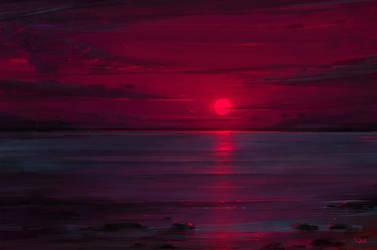 Neon Sunset by Sephiroth-Art