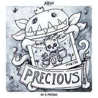 INKTOBER 2018 Day 9 - Precious by Sephiroth-Art