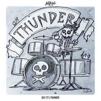 INKTOBER 2018 Day 27 - Thunder by Sephiroth-Art