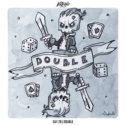 INKTOBER 2018 Day 29 - DOUBLE by Sephiroth-Art