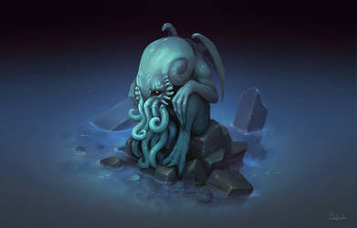 Isometric Cthulhu by Sephiroth-Art
