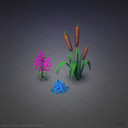 Isometric Plants by Sephiroth-Art