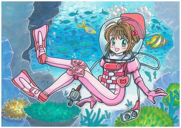 commission 02 Sakura-chan wears LAMA by marinaogaeri