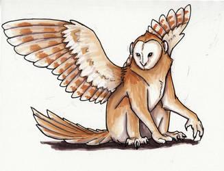 Monkey Owl by Relzolu