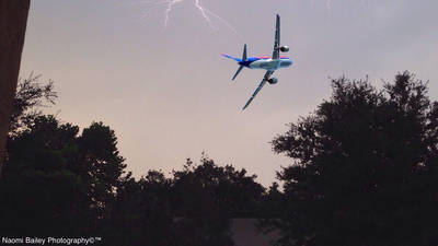 Augmented Plane with Lightning I Photographed by naomibailey1981
