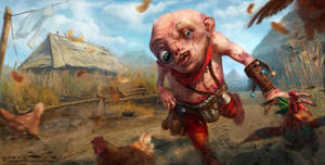 Witcher 3 Uma fan art by vertry