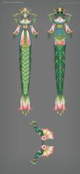 Medusa Dota 2 Concept Art by vertry