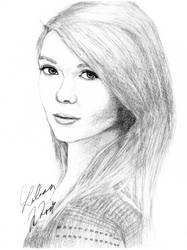 Lass Suicide Drawing by LilianMNoir