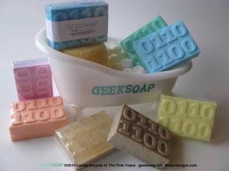 3D Binary GEEKSOAP Massage Bar by pinktoque