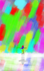 Colourful rain by iamkariina