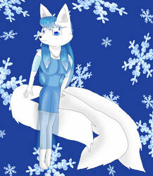 Anya the 3 Tailed Arctic Fox by KendraEevee