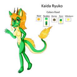 Kaida Ryuko the Dragoness Reference Sheet by KendraEevee