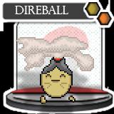 Direball, Fire Rock Fakemon by ShiningSunGraphics