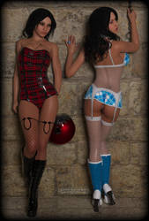 Hot Fetish Girls / Teles Twins under Paris by gajeco
