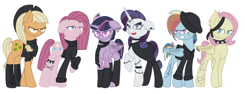 Mean 6 Headcanons (clothing) by icey-wicey-1517
