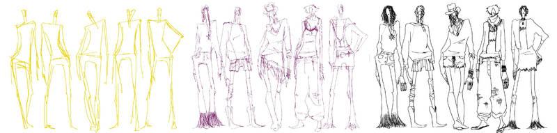 drawing fashion figures by klindicative