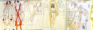 pierrot: sketchbook pages by klindicative