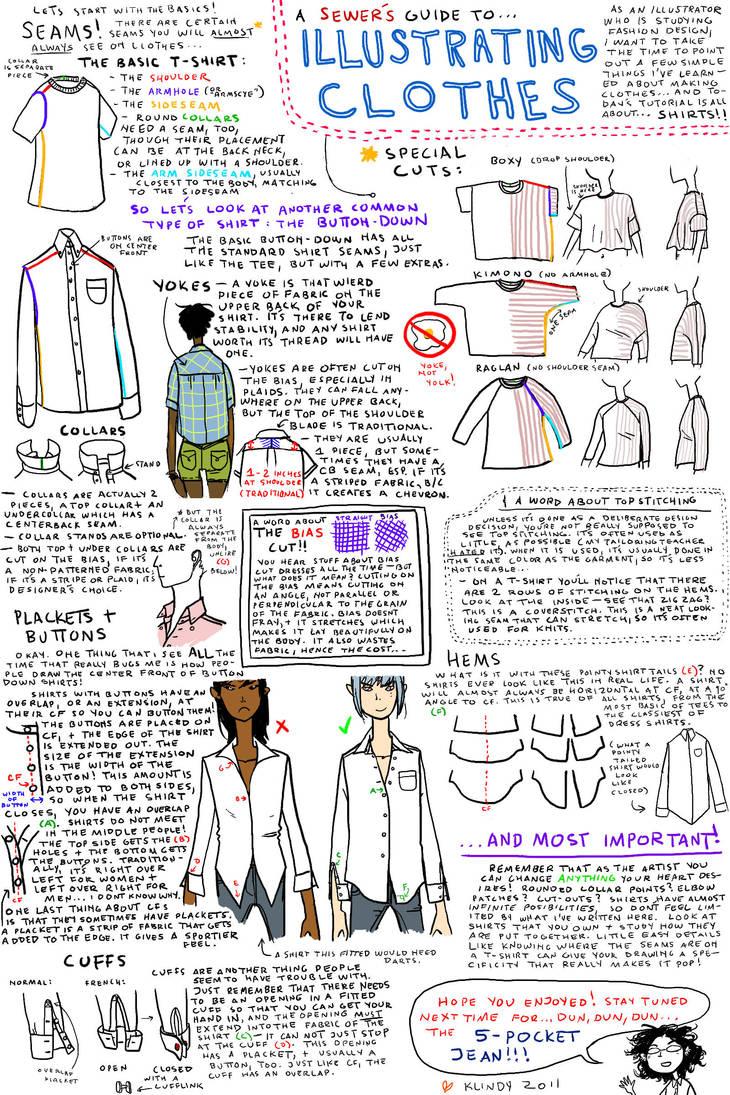 Illustrating Clothes: Shirts by klindicative