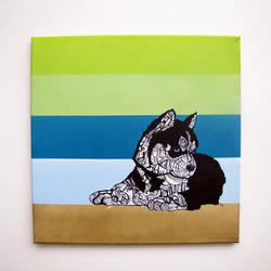 Husky Original Painting by MayhemHere