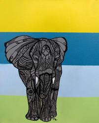 Elephant I Tangle by MayhemHere