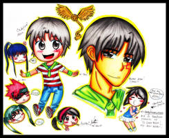 Allen Walker with chibiez by kannna