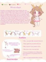 Hanadeer Trait Sheet [Closed Species] by mufflins