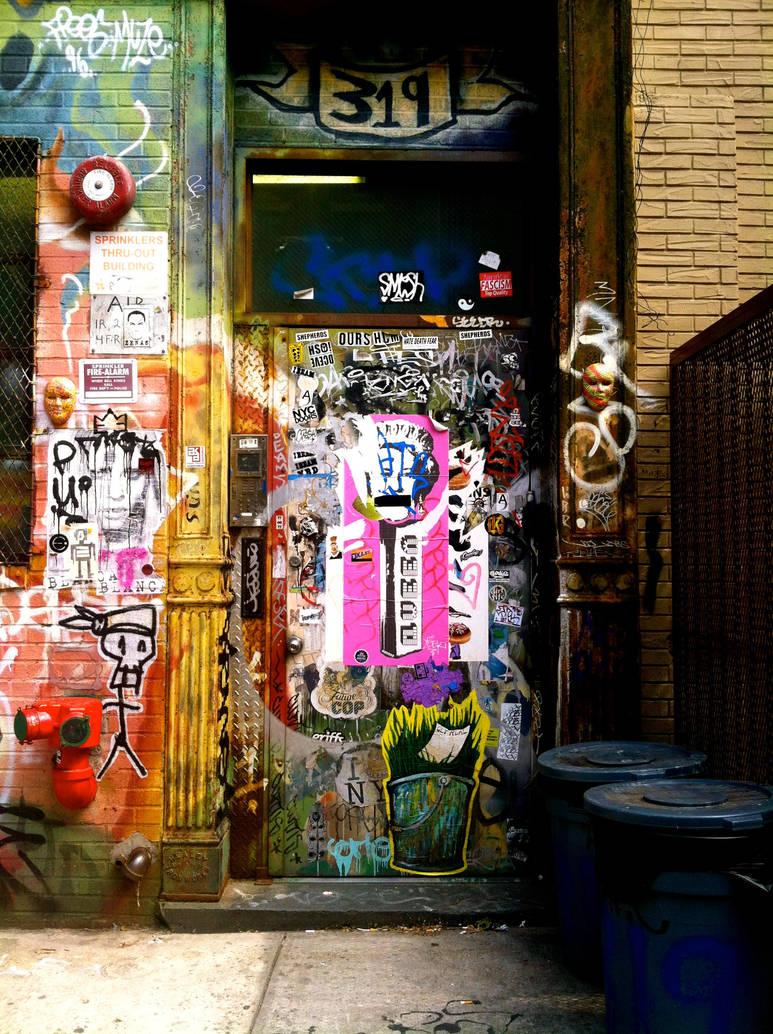 Doorway in Brooklyn. by AdamChristopherRudd