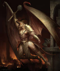 Gargoyle Dragon by TheRafa