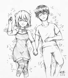 Peace...finally...(Lucy x Kouta) by USAthroughout