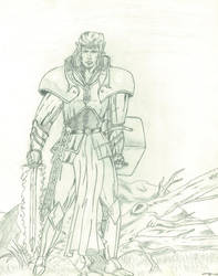 Elven Paladin by Amaniwolf