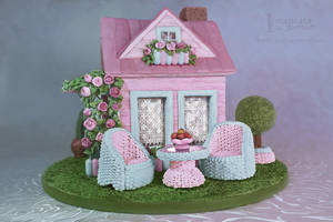 Shabby Chic Gingerbread dollhouse by GingerbreadFairy