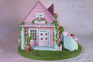 Shabby Chic Gingerbread Dollhouse 2 by GingerbreadFairy