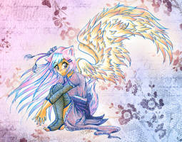 Angelic Kitsune by Gezusfreek