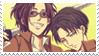 Levi and Hange stamp by patchoulimad