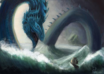 Water Guardian Dragon by phoenixleo