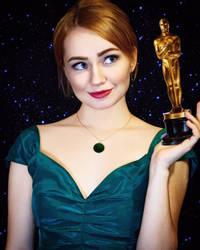 Emma Stone wins oscar by GrangeAir