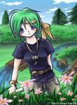 A shinai in my garden by llifi-kei