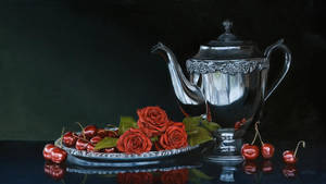 Roses and Cherries by deRaat