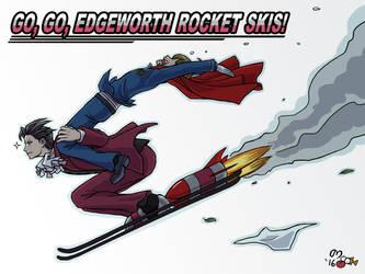Go, Go, Edgeworth Rocket Skis! by norinoko
